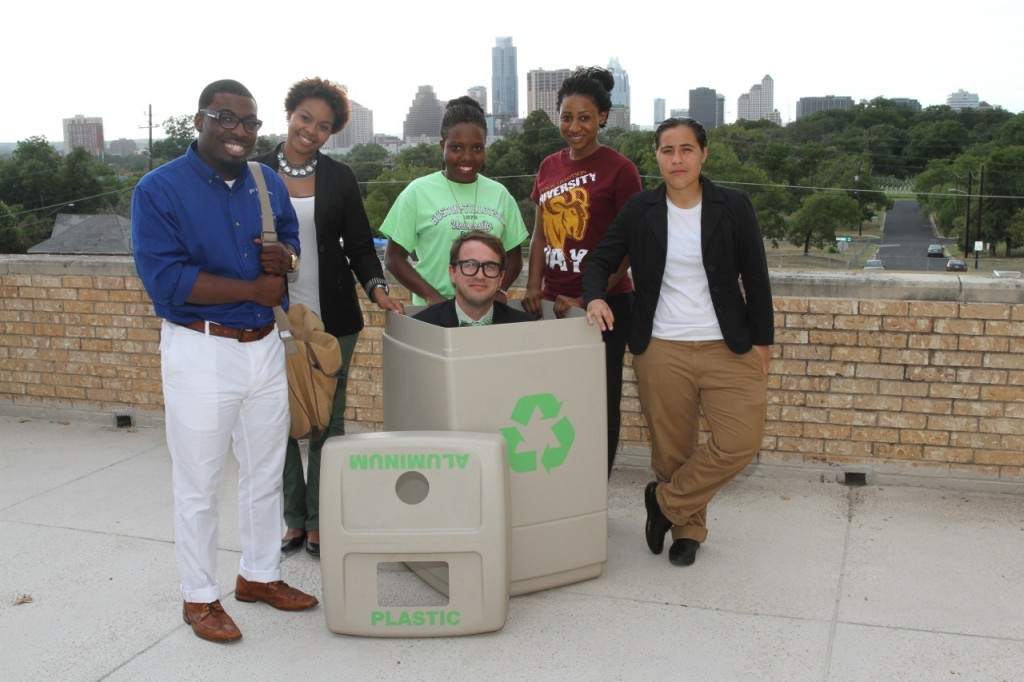Students and Professor Dumpster