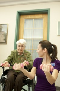 Nursing and Kinesiology students lead fitness classes for elderly